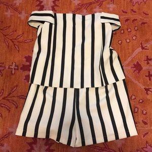 Top shop striped romper